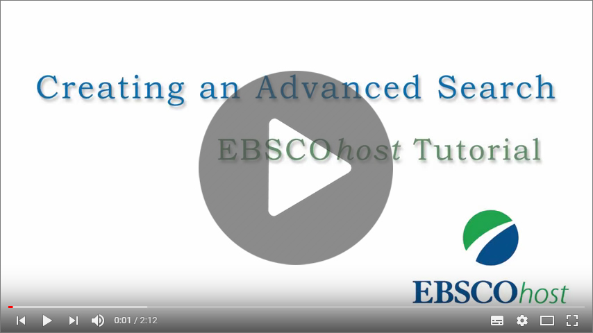 EBSCOhost Advanced Searching