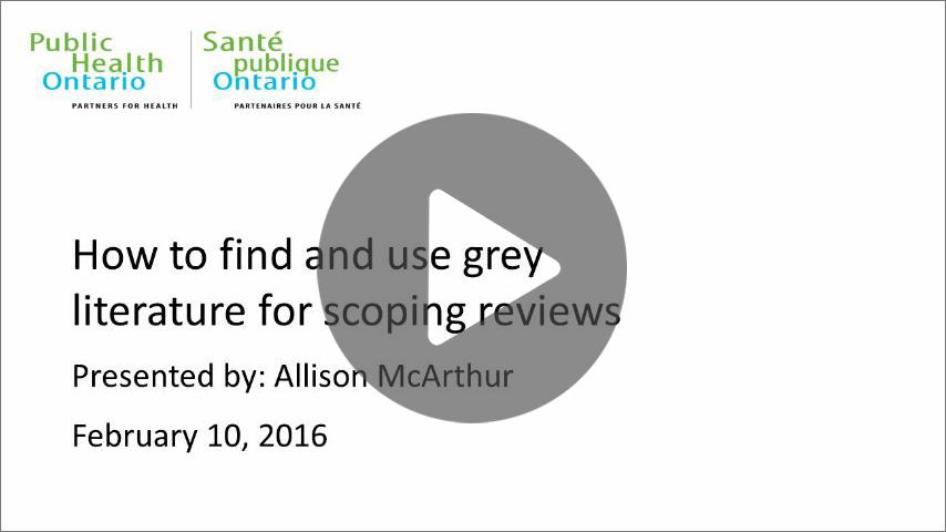 How To Find And Use Grey Literature For Scoping Reviews